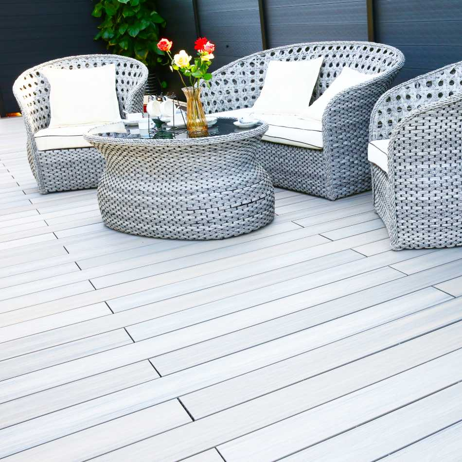 wooden composite decking duodeck yeovil