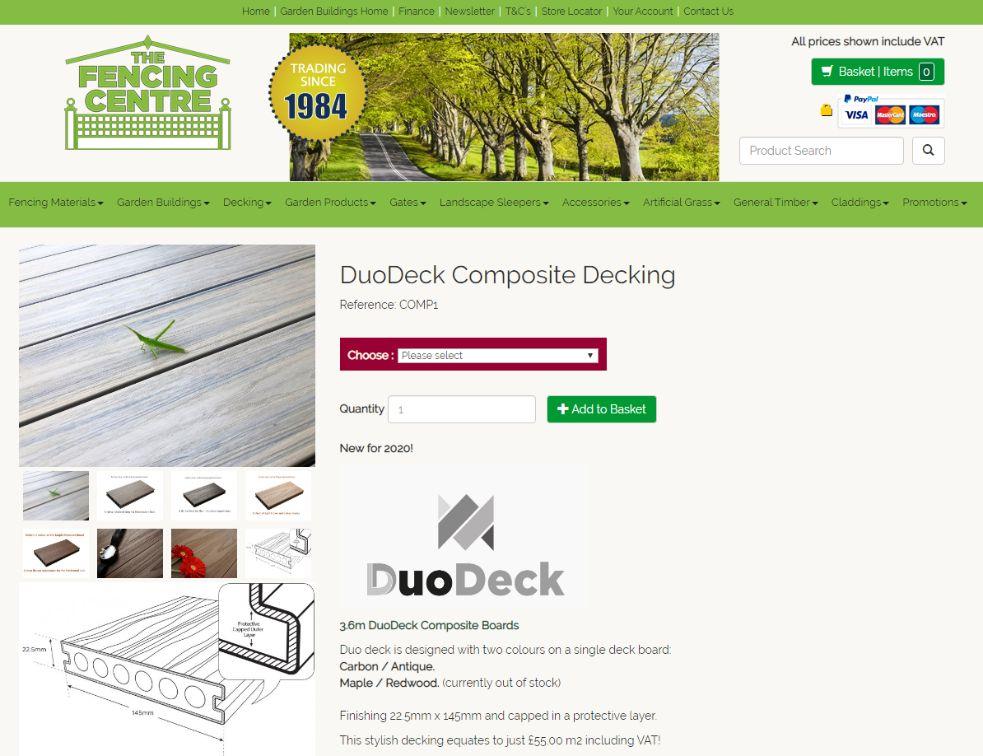 buy wooden plastic composite decking online duodeck