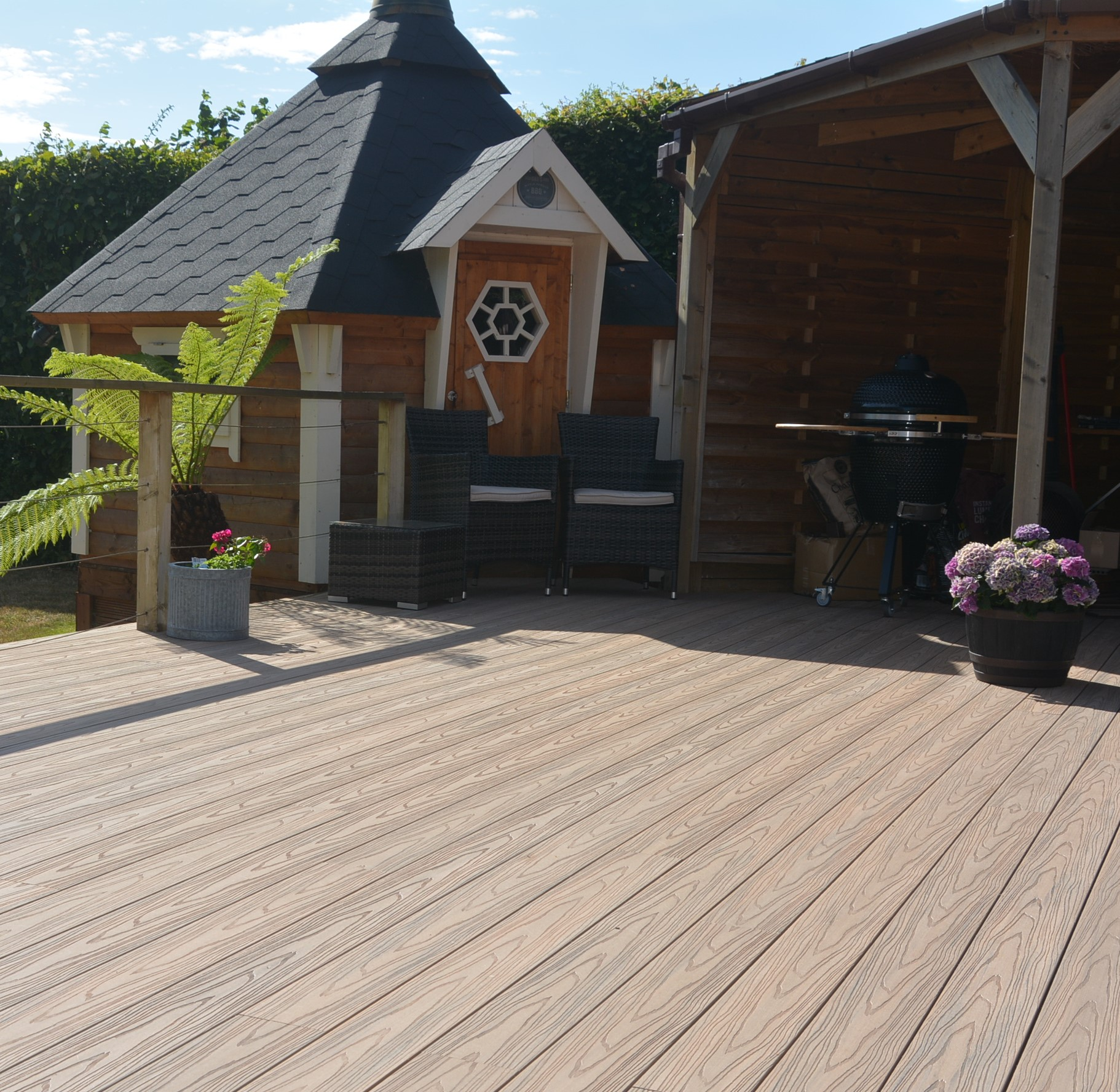 wooden composite decking duodeck devon
